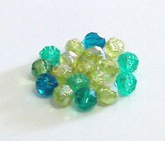 Faceted Round Plastic Beads in Shades of Green 8 by BeadsFromHaven, $0.72 #teamdream #RT