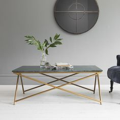 Stellar Green Marble Coffee Table - Due Oct 24th