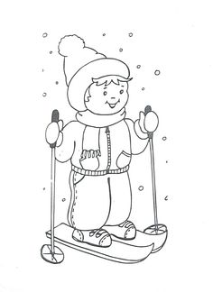 Sports Coloring Pages, Colouring Pages, Adult Coloring Pages, Coloring Pages For Kids, Coloring Books, Winter Pictures, Colorful Pictures, Apple Clip Art, Free Watercolor Flowers