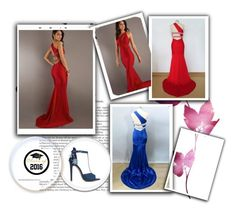 sexy evening dress by johnnymuller on Polyvore featuring ShoeDazzle