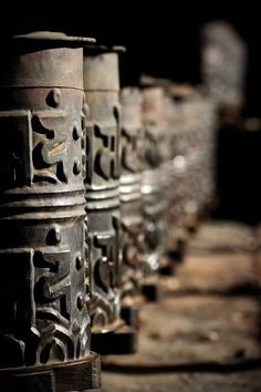 """Prayer wheels at Kagbeni Mustang by Adept Photography (Here's why I don't sing """"Have a Little Talk with Jesus."""" Prayer wheels, mentioned in the lyrics, are Hindu, not Christian.)"""