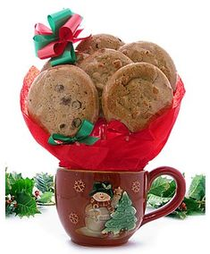 Cookie bouquet for Christmas 7.❤️ Shop for Snowmen, snowflakes and winter scenes mugs for cute gifts or decor for the home. Get creative with the contents makes it all the more fun.❤️