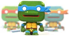 Mini papertoy 'Leonardo' (Tortues Ninja)