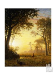 Light in the Forest Giclee Print by Albert Bierstadt at Art.com