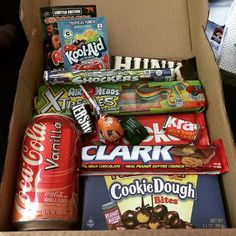 """""""Wooooh!! @taffymail came on my birthday!!!! So excite!! Also a #Clark bar! That's my name haha"""""""