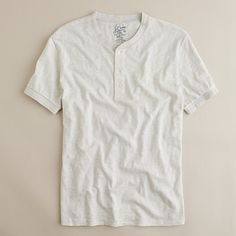 "Ever since I saw ""Drive,"" I've been wanting a short-sleeve Henley like this one. What Women Want, Henley Tee, Fall Capsule Wardrobe, Henleys, Fashion Outfits, Mens Fashion, Fashion Ideas, Weather Wear, Knit Shorts"