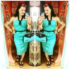 @voodoovixenldn dress & @sourpussclothing purse from @goldentrash_morgantattoo  #voodoovixen #voodoovixenldn #sourpussclothing #sourpuss #pinuphandbag #pinupdress #pinup #pinupgirl #pinupstyle #rocker #rockabillygirl #rockabillystyle #rockabillyshop