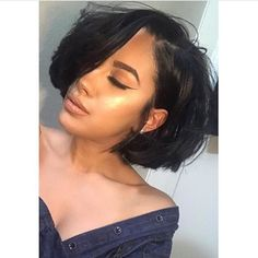 """73 Likes, 2 Comments - Omgherhair Official (@omgherhair) on Instagram: """"#bob #hairinspiration Loving this short hair , so beautiful . #repost @keepingupw.kay #bob…"""""""