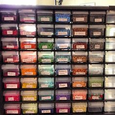 Perler bead container storage by Lisa