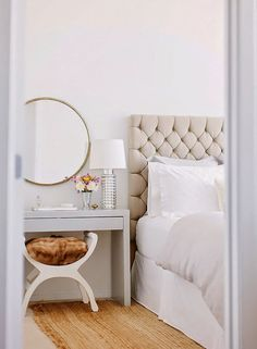 How to Design an All-White Room Like a Boss All White Room, White Bedroom, Dream Bedroom, Pretty Bedroom, Pastel Bedroom, White Bedding, Ikea Malm Series, Decoration Bedroom, Table Design
