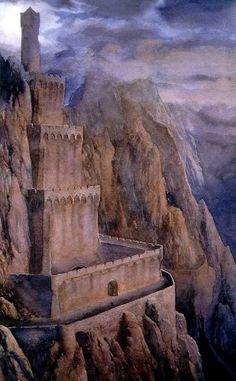 Tolkien By John Howe & Alan Lee - Imágenes Alan Lee, Fantasy Places, Fantasy World, Fantasy Art, Gandalf, John Howe, Das Silmarillion, Minas Tirith, J. R. R. Tolkien