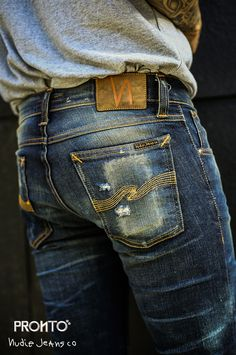 Nudie Jeans, Denim Jeans Men, Mens Poncho, Raw Denim, Blue Denim, All Jeans, Recycle Jeans, Leather Jeans, Denim Outfit