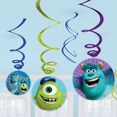 Monsters University Party Swirls pack of 6