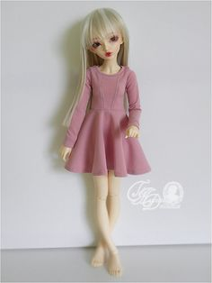 PREORDER MNF dusty pink jersey casual dress for by deisdollhouse