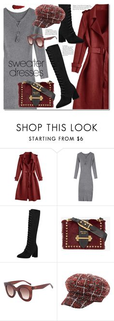 """Cozy and Cute: Sweater Dresses"" by duma-duma ❤ liked on Polyvore featuring Prada, By Terry and sweaterdresses"