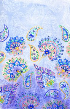 Paisley Watercolor - great fabric! /indiapiedaterre/patterns-of-india/ over 1,000 pins! love this site - BACK