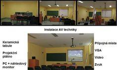 Instalace audiovizuální techniky - posluchárna