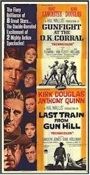 Gunfight at the O.K. Corral (1957) IMDb logo with Burt Lancaster, Kirk Douglas, Rhonda Fleming, Jo Van Fleet, and John Ireland directed by John Sturges