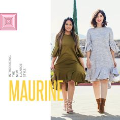 0f8f495b34d We re loving the new retro LuLaRoe Maurine dress! Highlights include a high  neckline