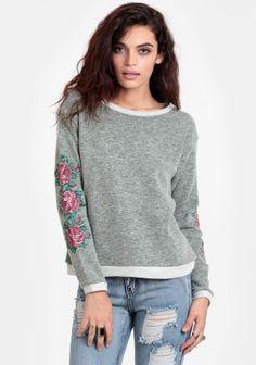 Glory Days Embroidered Sweatshirt #threadsence #fashion