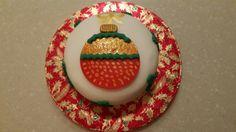 Fondant bauble cake
