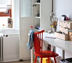 The red chair | Check out more of Michelle-Marie's awesome home in Denmark at flair-blog.dk | live from IKEA FAMILY