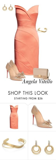 """""""Untitled #1026"""" by angela-vitello on Polyvore featuring Christian Louboutin, David Yurman and Yves Saint Laurent"""