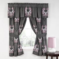 Bone Collector Pink Rod Pocket Curtains