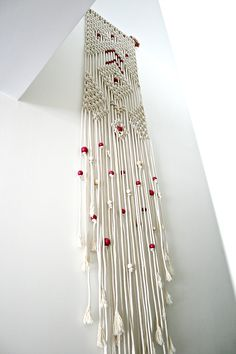 Diamond Rain macrame by the knot studio artists