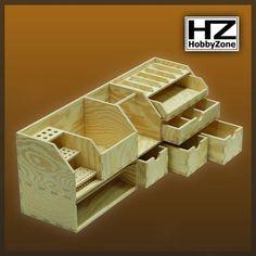 HobbyZone - Kleine Tisch Werkbank (Benchtop Organizer, Workbench) Ordnung
