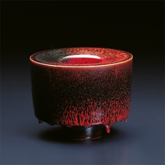 Double-walled vessel by Austrian potter Thomas Bohle, beautiful glaze