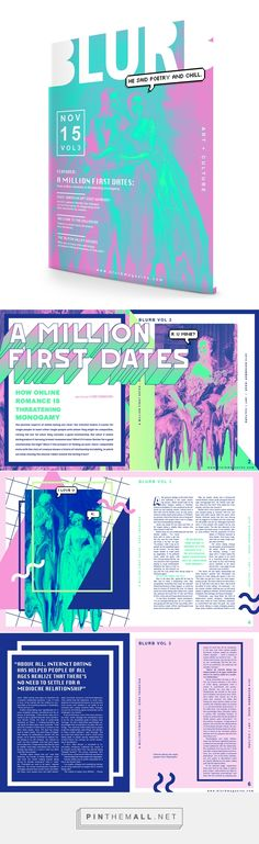 """""""A Million First Dates"""" Editorial Spread on Behance. - a grouped images pictur. - graphic design - """"A Million First Dates"""" Editorial Spread on Behance… – a grouped images picture – Pin The - Design Editorial, Editorial Layout, Web Design, Design De Configuration, Pag Web, Magazin Design, Dates, Magazine Layout Design, Magazine Layouts"""
