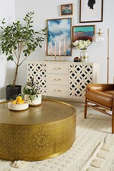 Anthropologie Embossed Cisse Coffee Table - May 12 2019 at Copper Furniture, Hanging Furniture, New Furniture, Living Room Furniture, Business Furniture, Outdoor Furniture, Furniture Outlet, Antique Furniture, Painted Furniture