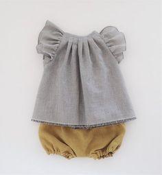 Organic Cotton Blouse for Toddler Girls / moonroomkids on Etsy