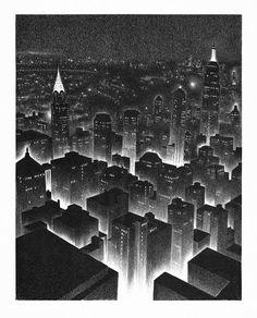 Ellison Hoover, Manhattan Midnight, c.1930