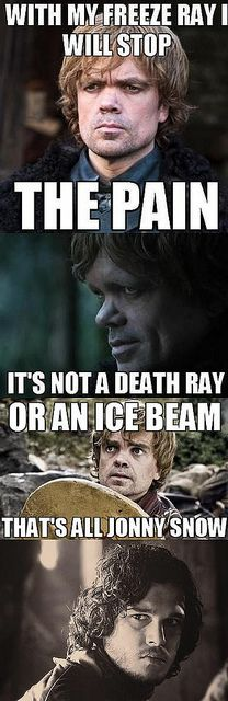 Dr. Horrible/Game of Thrones.  Doesn't hurt that these are two of my favorite characters.