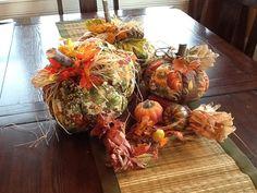 Rustic accents fall cloth pumpkin decorations by RusticAccents, $34.99