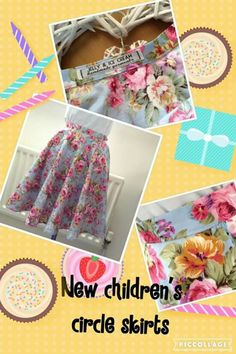 New line of children's full circle skirts today