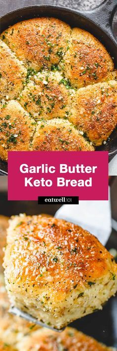 Butter Keto Bread Garlic Butter Keto Bread - Crisp on the outside and moist in the inside, this is the Holy Grail for keto bread!Garlic Butter Keto Bread - Crisp on the outside and moist in the inside, this is the Holy Grail for keto bread! Ketogenic Recipes, Low Carb Recipes, Diet Recipes, Cooking Recipes, Healthy Recipes, Recipies, Pescatarian Recipes, Flour Recipes, Recipes Dinner