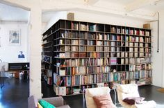 bookshelf-OCÉAN, loft à Bruxelles par SHSH