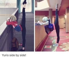 Amazing cosplayer cosplaying Yurio