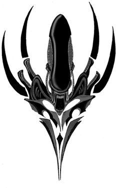 Aliens And Predators ~ Alien Tattoo Design   Tattoobite.com