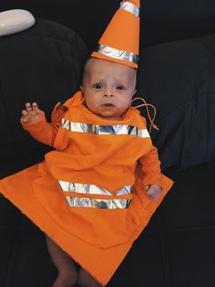 coolest homemade traffic cone toddler halloween costume home