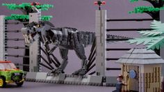 T-Rex encounter from Jurassic Park on LEGO Cuusoo