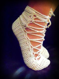 Beautiful #Crochet Shoes