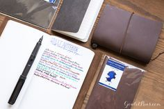 Perfect for fountains pens! These Goulet Notebooks with Tomoé River Paper are a must for me. Now to decide the size...