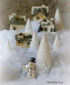 Make a snowman town