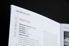 York Concerts Programmes by Ball Design Consultancy , via Behance
