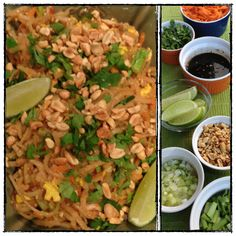 Homemade Chicken Pad Thai, using real food and clean ingredients.  No processed ingredients, and tastes like restaurant quality pad thai.  SOOO delicious.
