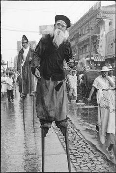 Henri Cartier-Bresson // China, 1949 -- Shanghai. Celebrating the Communist conquest of Shanghai.